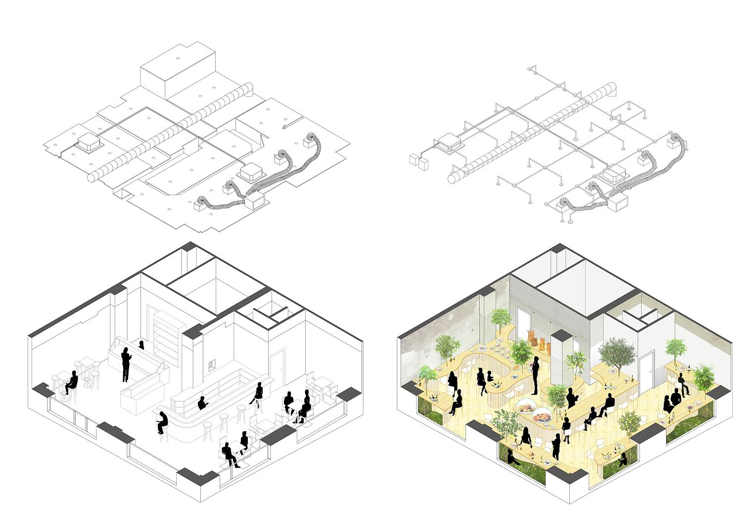 Evolving design plan of the PLACE´TA Restaurant in Spain