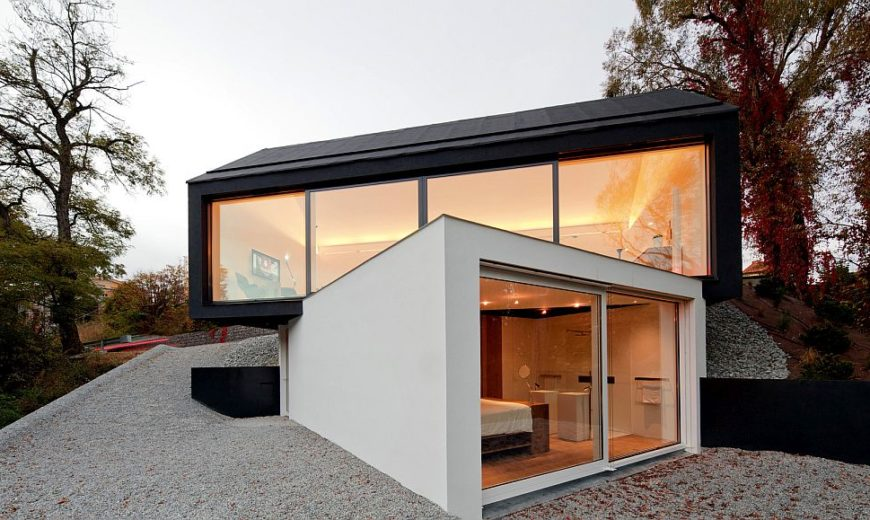 Boxed Brilliance: Black and White Studio House Showcases Twisted Geometry!