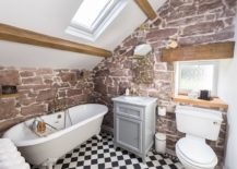 Fabulous-little-bathroom-in-white-with-beautiful-red-sandstone-in-the-backdrop-217x155
