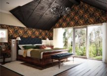 Fabulous-traditional-bedroom-with-high-pitched-ceiling-rich-wooden-decor-and-sleigh-bed-217x155