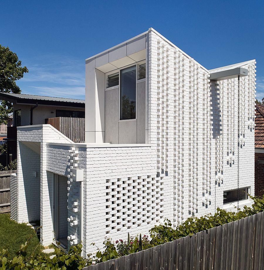Fabulous white brick extension to suburban Melbourne home