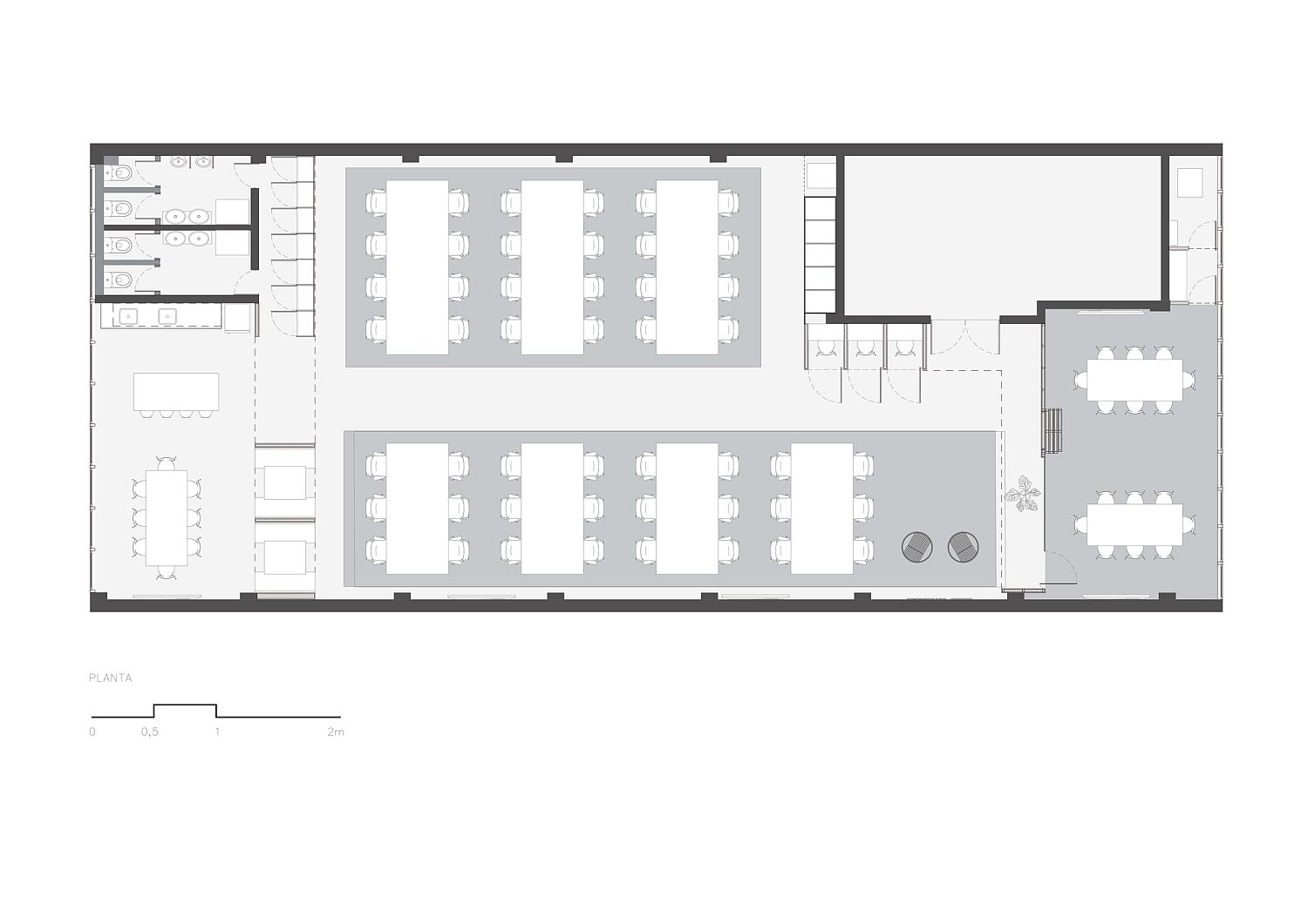Floor plan of pipefy office in Brazil