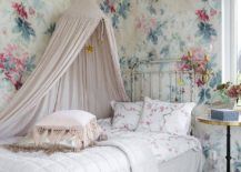Flowery-pattern-for-the-walls-sits-perfectly-into-the-narrative-of-the-bright-shabby-chic-kids-room-217x155