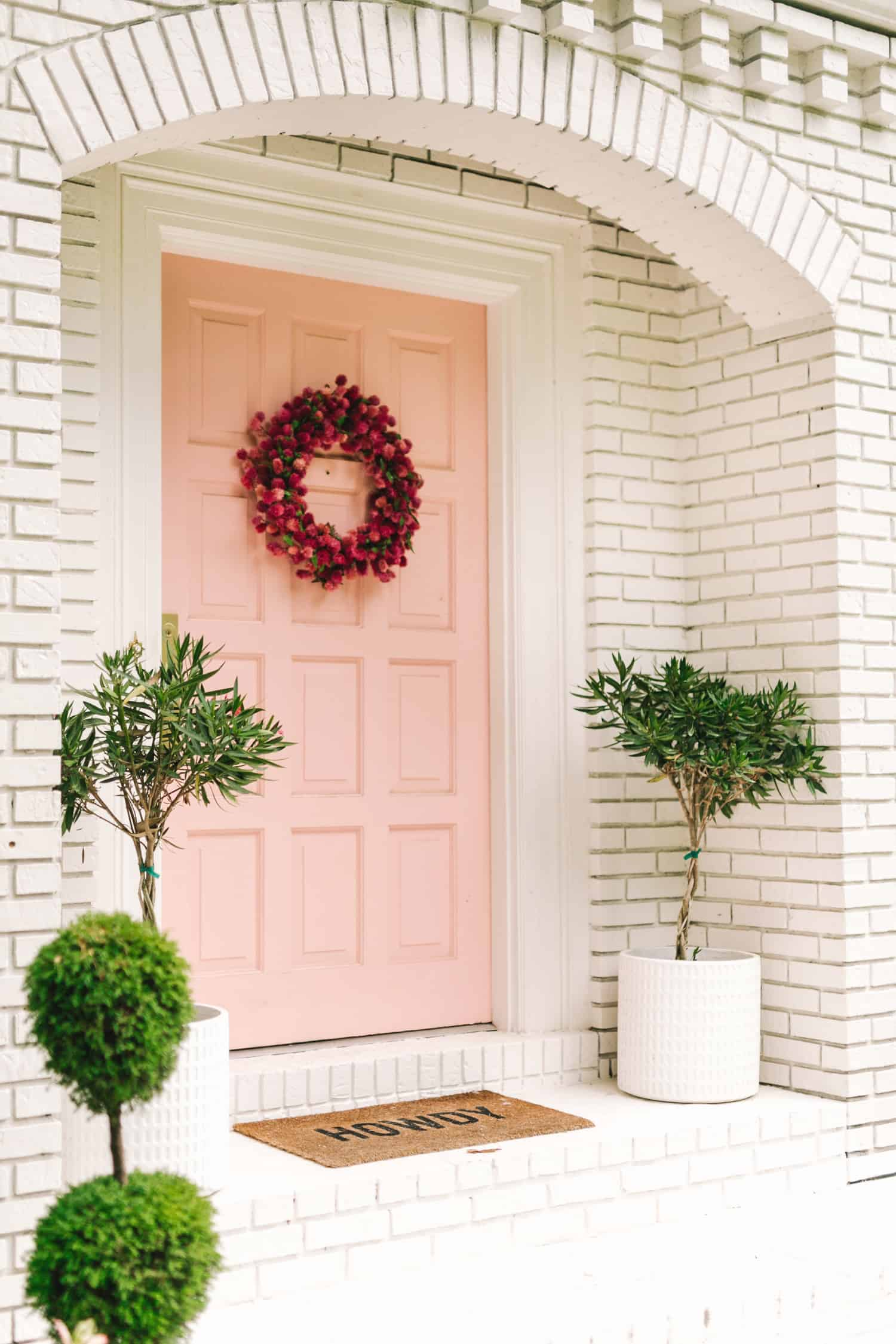 Front door in Noble Blush by Behr