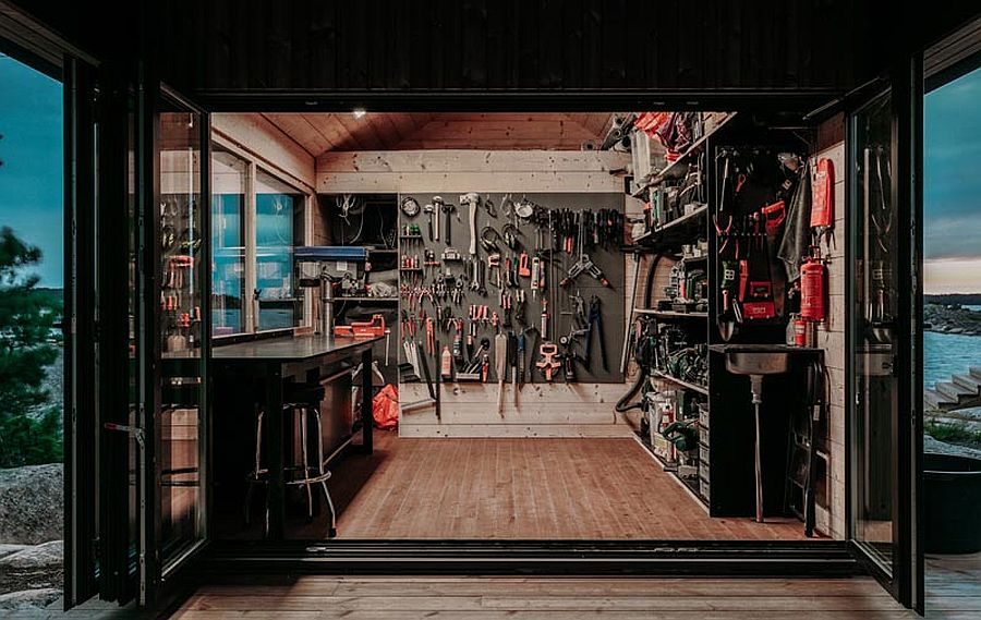 Garage-at-the-cabin-complete-with-everything-one-could-ask-for