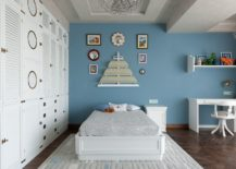 Gray-and-white-kids-bedroom-with-accent-wall-in-blue-217x155