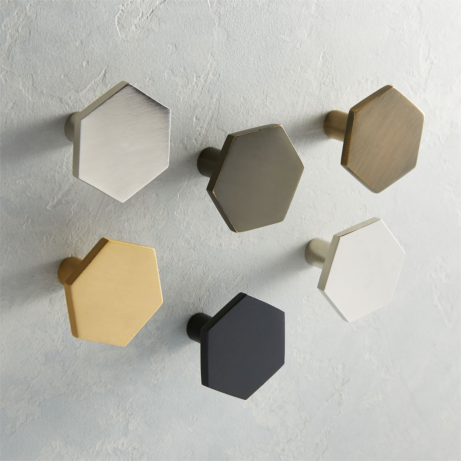 Hexagon cabinet knobs from CB2