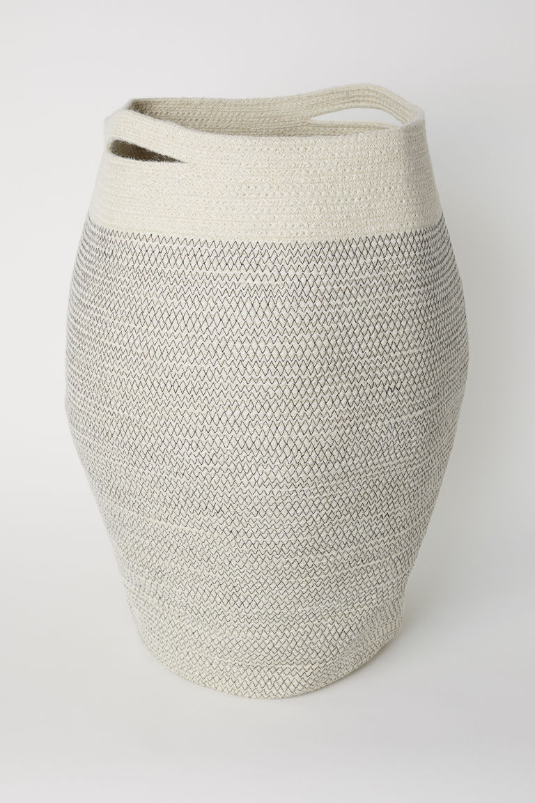 Jute laundry basket from H&M Home