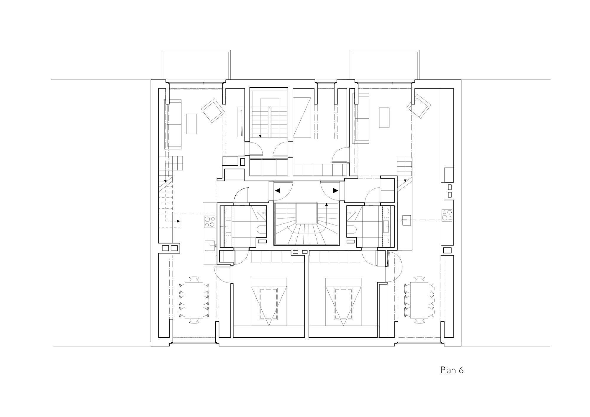 Lower level floor plan of Vidars Gate designed by R21 Arkitekter