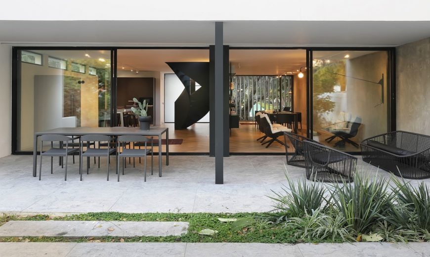 Extensively Renovated 60's Tel Aviv Home with a Stunning Spiral Staircase in Black