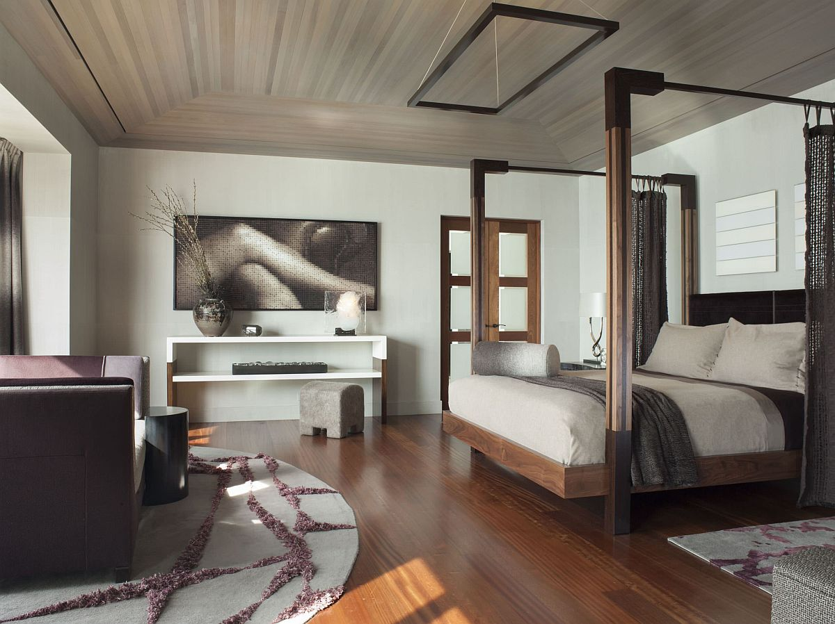 Luxurious-master-bedroom-with-a-modern-four-poster-bed-and-contemporary-style