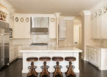 Monochromatic-white-and-cream-kitchen-with-bar-stools-that-stand-out-visually-217x155