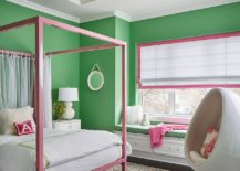 Pretty-kids-bedroom-in-green-with-pops-of-pink-that-give-the-space-a-festive-look-217x155