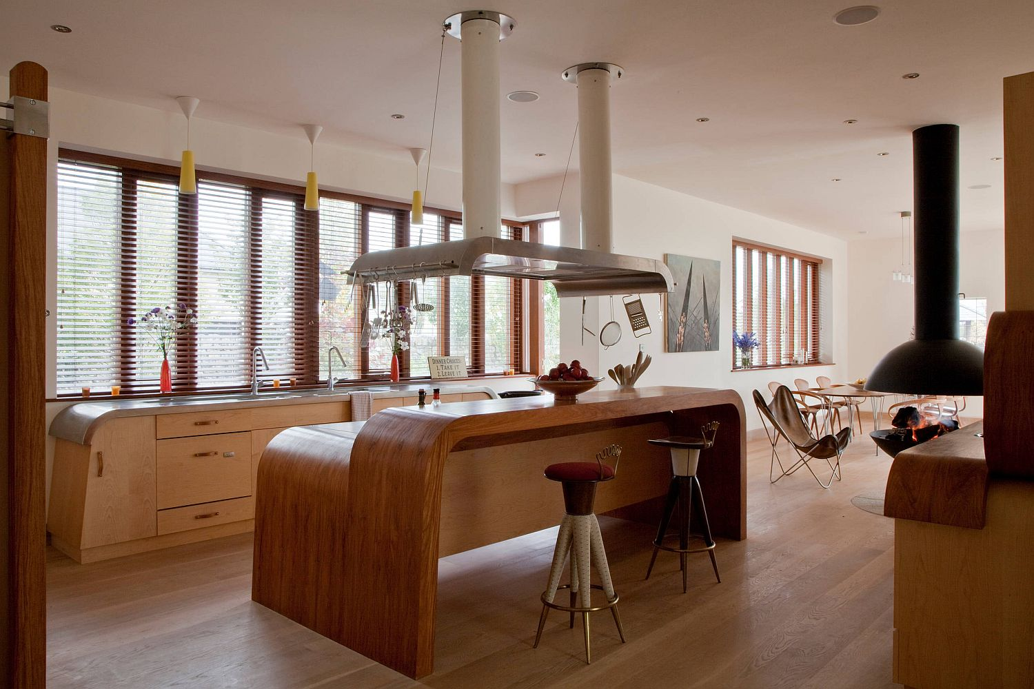Quirky seating ideas for a kitchen that is equally eclectic in its style
