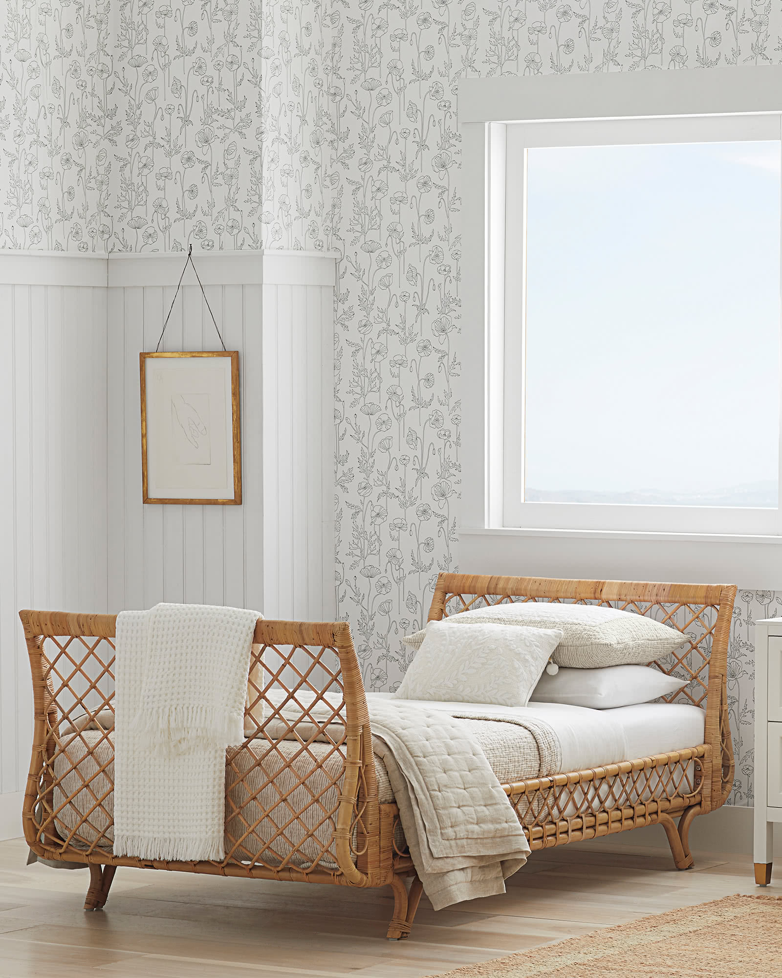 Rattan daybed from Serena & Lily