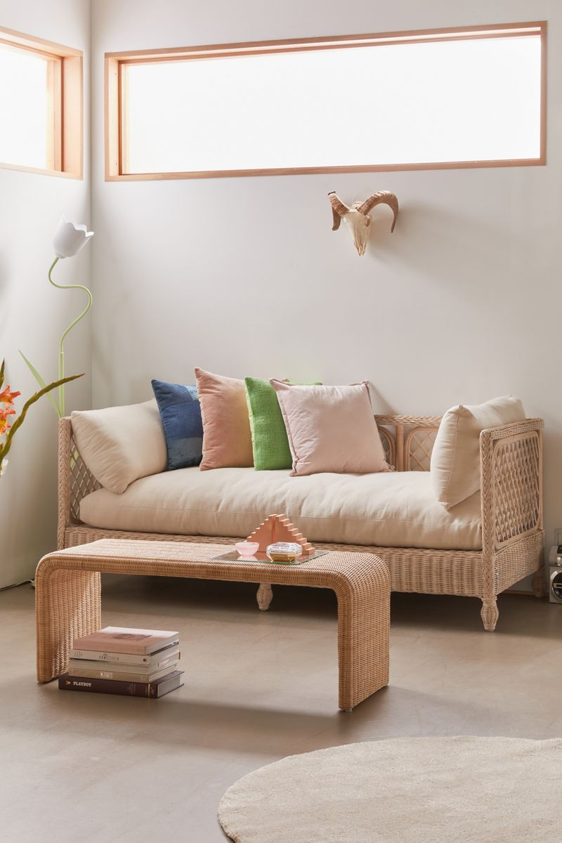 Rattan daybed with a retro vibe