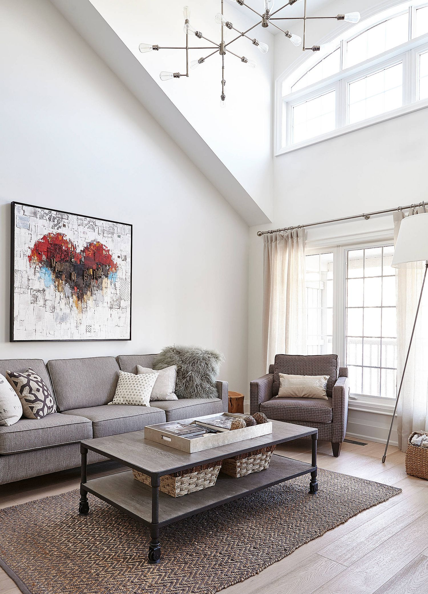 Red-accents-for-the-living-room-brought-in-by-the-wall-art