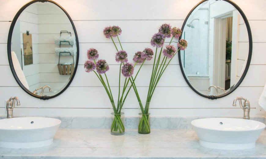 Round-mirrors-in-bathroom-with-shiplap-decor-870x520