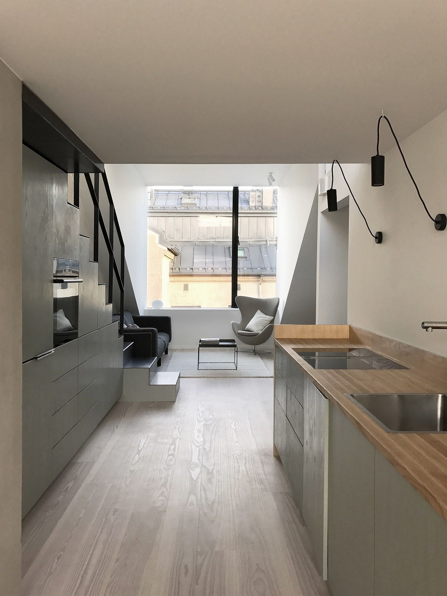 Smart kitchen and dining area maximize space inside the Oslo apartments