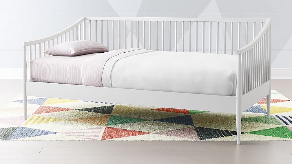 Spindle daybed for a child's room