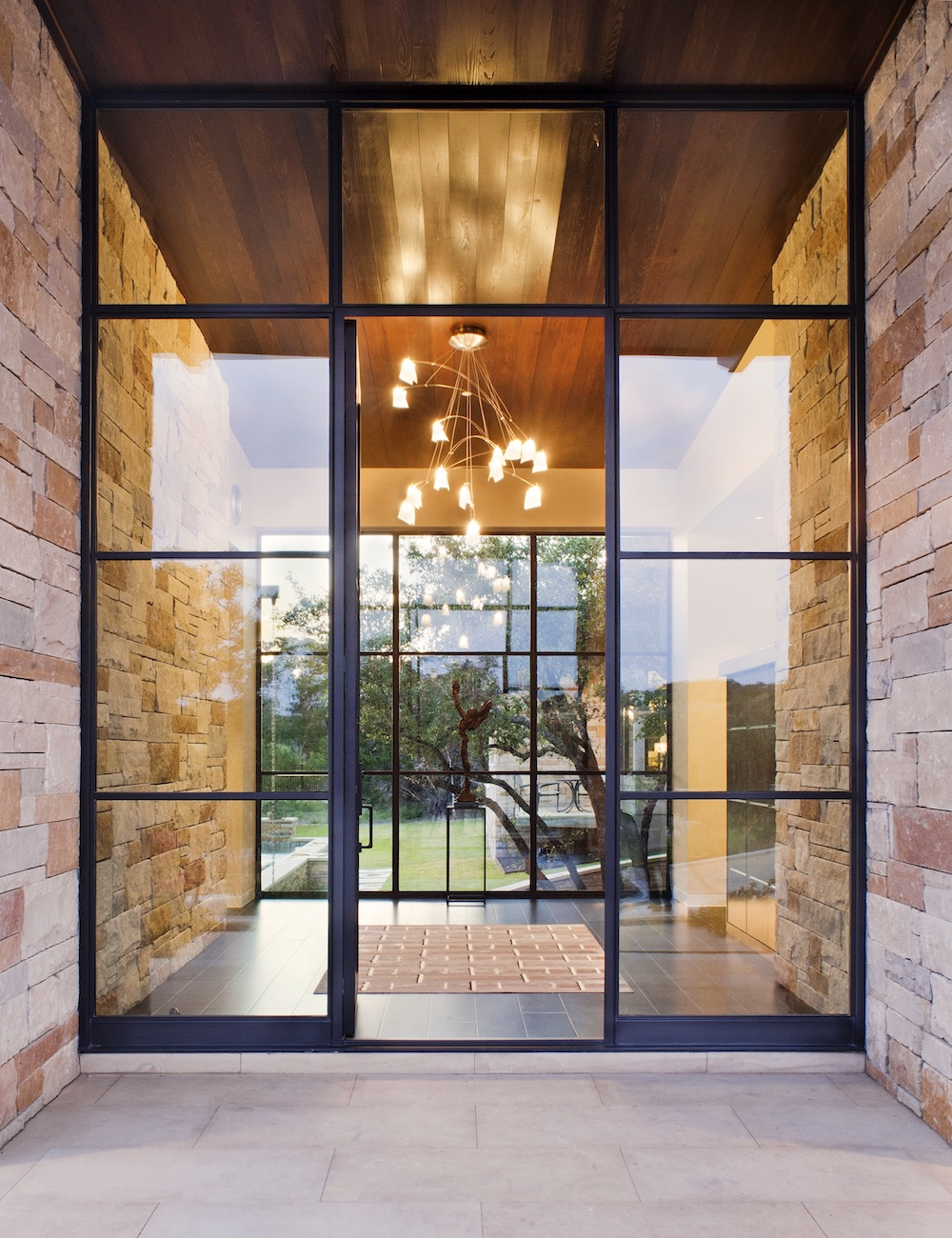 Steel and glass entrance