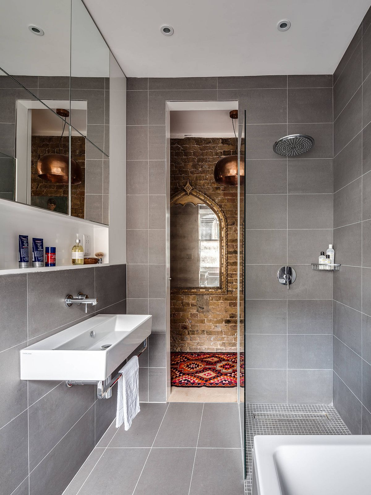 Small Gray Bathroom Ideas: A Balance Between Style and ... on Small Space Small Bathroom Ideas Uk id=49712