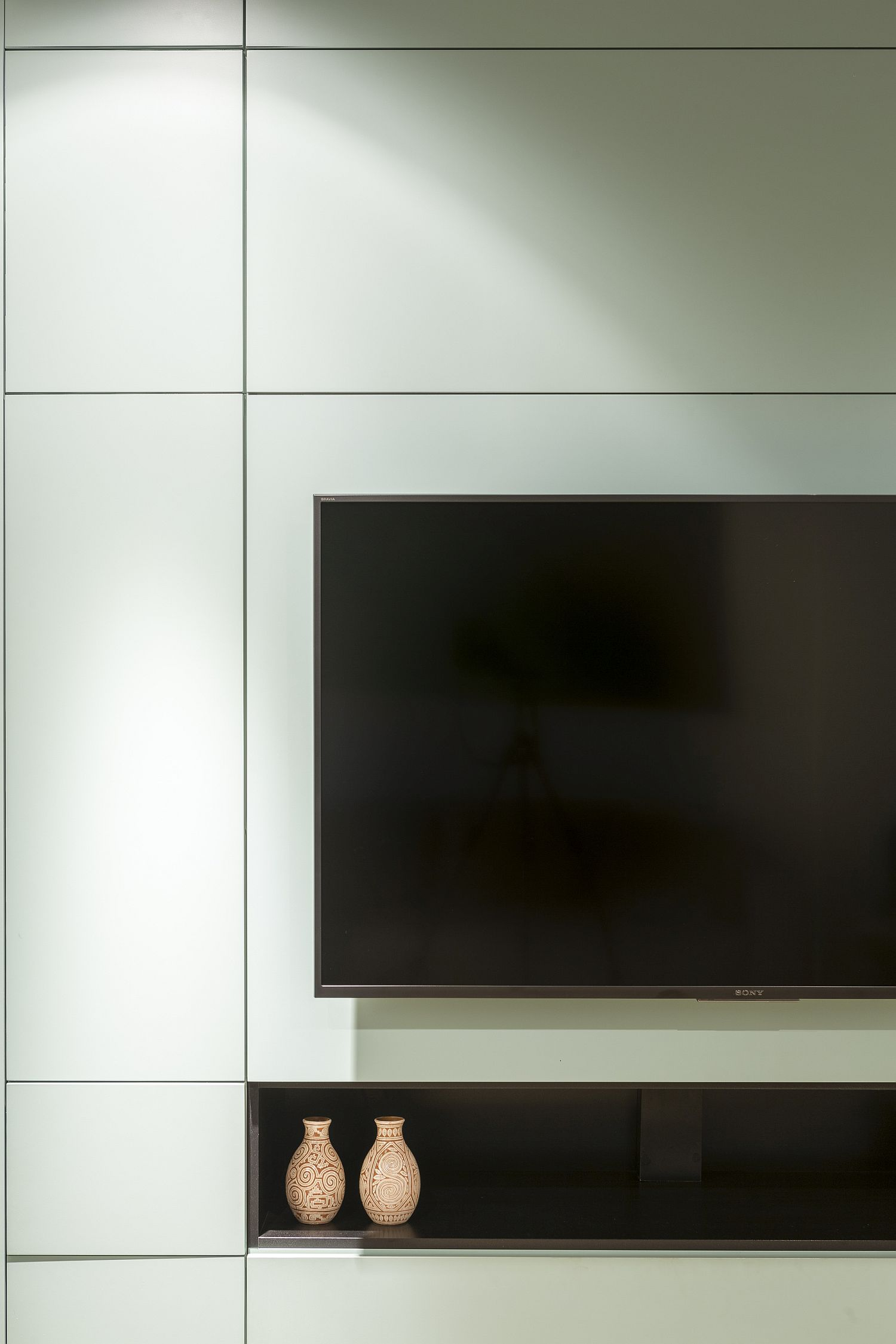 TV and entertainment unit placed in the multifunctional cabinet