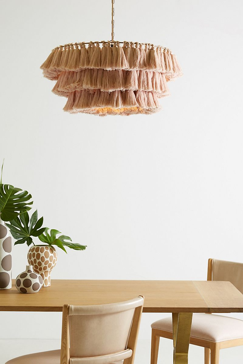 Tasseled chandelier from Anthropologie