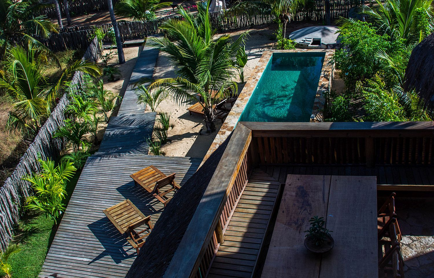 View from above of the Nomades House in Brazil