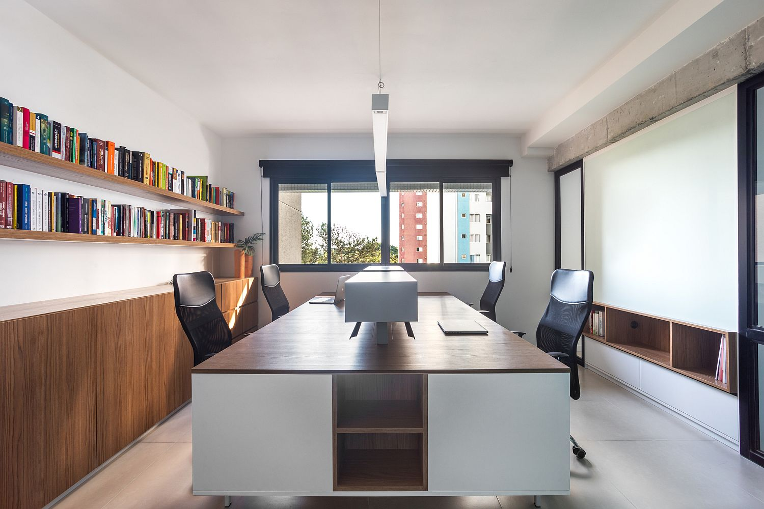 Window brings natural light into the meeting room