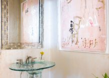 A-dash-of-pink-for-the-bathroom-in-neutral-hues-comes-with-lovely-wall-art-piece-217x155