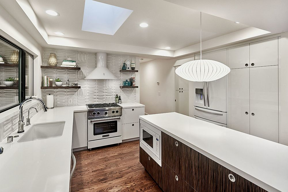 Beautiful-wood-and-white-kitchen-with-skylight-and-a-smart-island-with-multi-functional-design