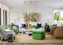 Bright-pops-of-blue-and-green-enliven-this-tropical-style-living-room-in-white-217x155