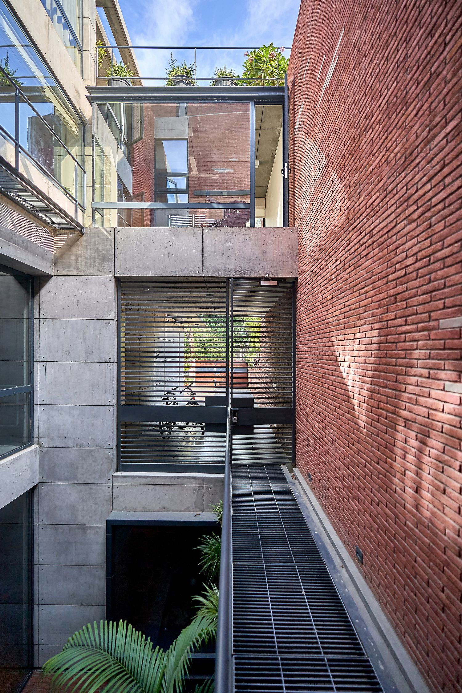Central void brings ample natural ventilation into the studio