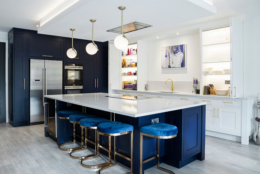 Best Kitchens In Classic Blue Try Out The Trendiest Color In Many Tones