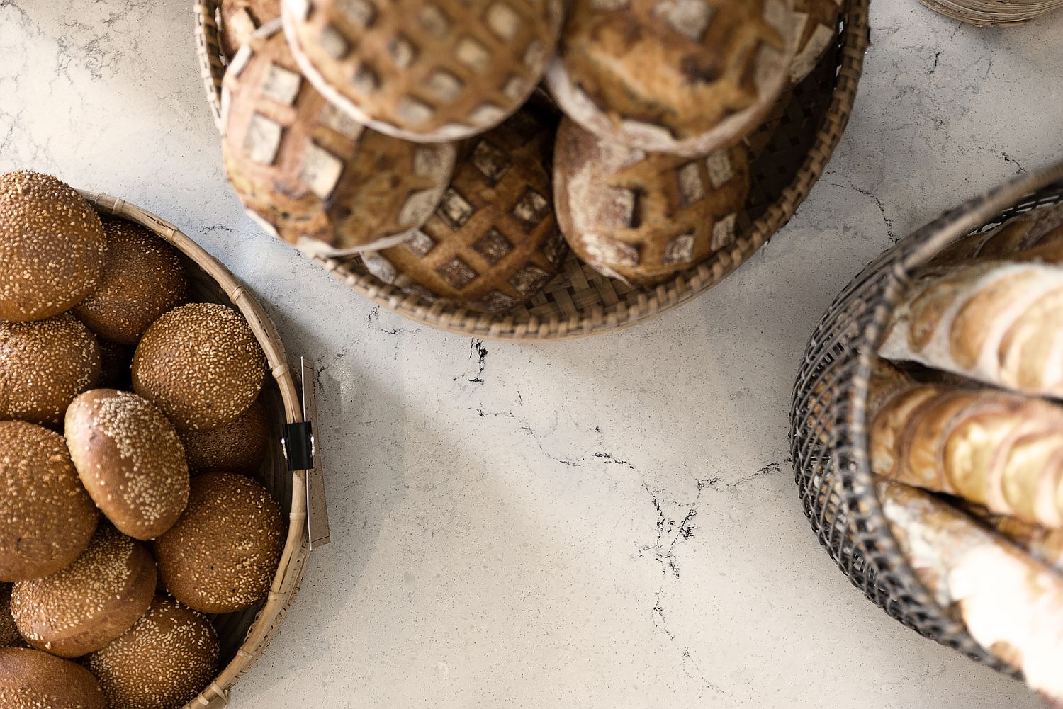 Closer-look-at-the-marble-countertops-inside-the-bakery-with-modern-industrial-touches