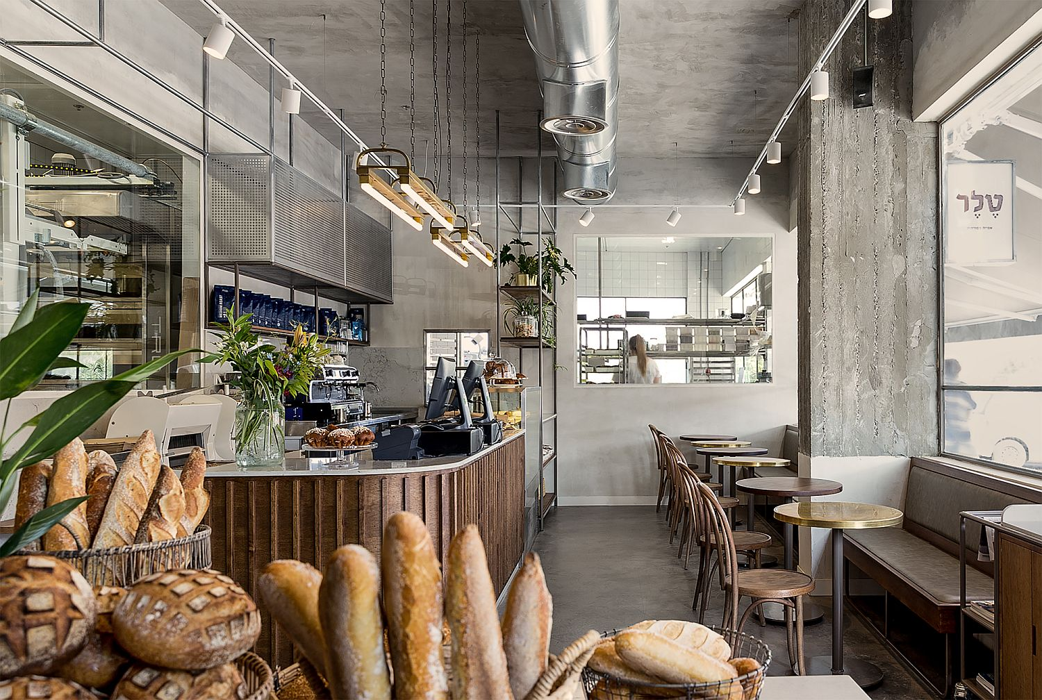 Creation-of-bread-library-inside-the-pastry-factory-in-Israel