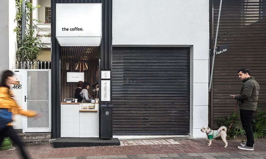 Japanese Minimalism and Smart Functionality Shape Ultra-Tiny Coffee Shop