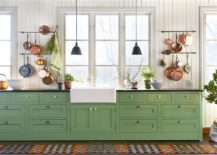 Dashing-modern-farmhouse-kitchen-with-white-and-dark-green-combined-in-an-exquisite-fashion-217x155