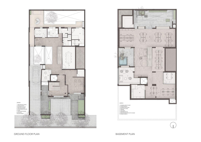 Design and floor plan of Lopez Design Office in Gurugram, India