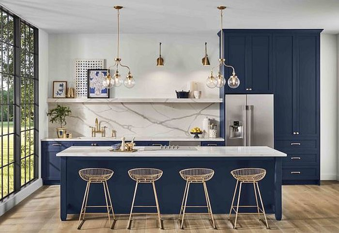Embracing Pantone's Color of the Year in the kitchen with contemporary style