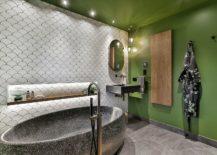 Fabulous-stone-bathtub-for-the-transitional-bathroom-in-green-217x155