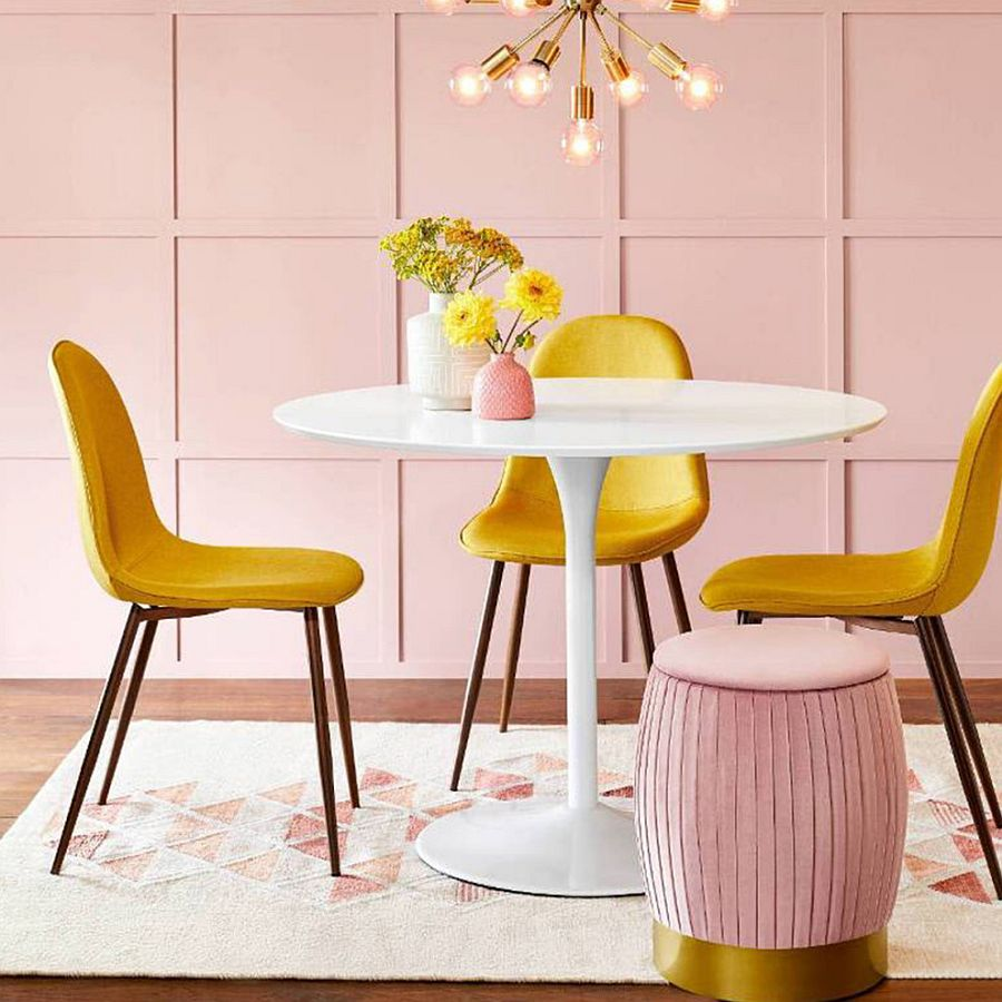 Presence of Pink: Fabulous Pink Dining Rooms Move Away from Mundane