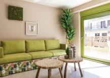 Giving-the-small-living-room-color-using-pops-of-green-217x155
