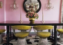 Iconic-Platner-Chairs-bring-contrast-to-the-fab-dining-room-in-pink-217x155