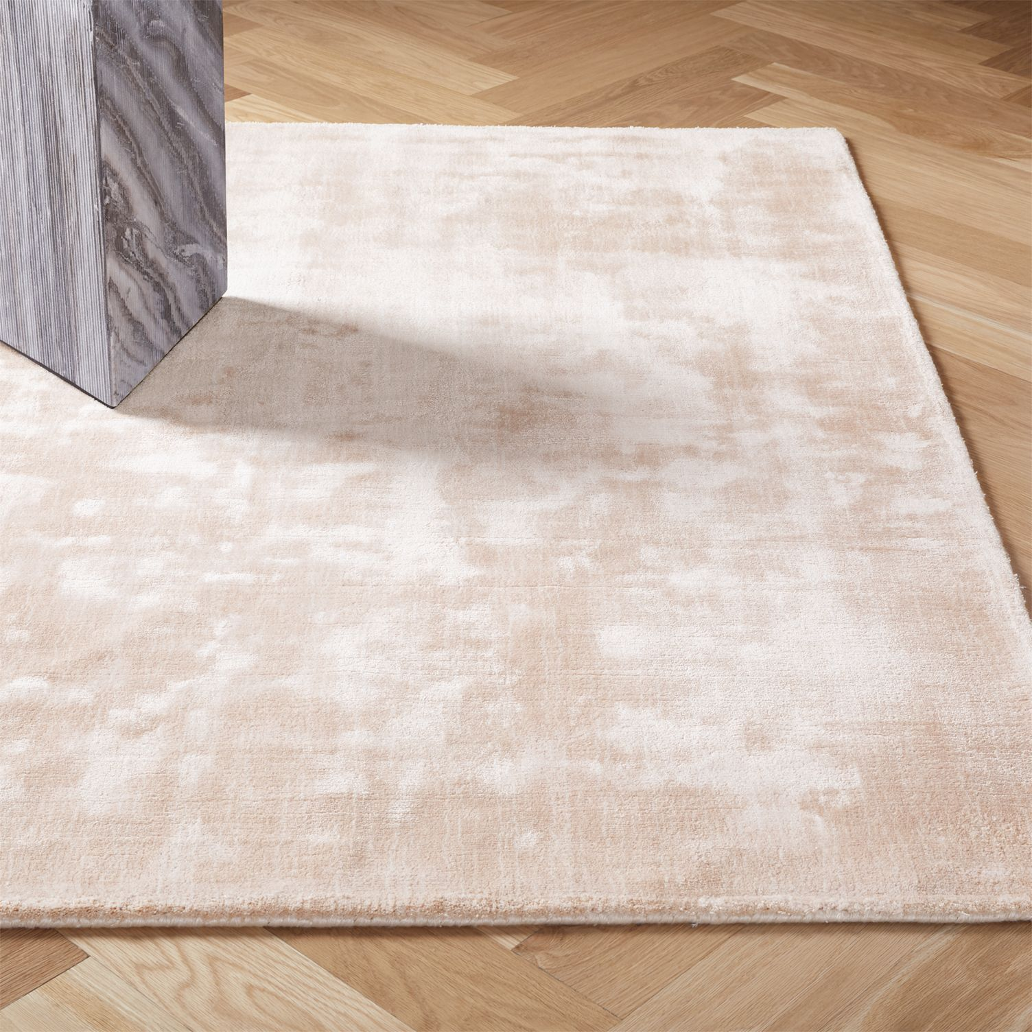 Light pink distressed rug from CB2