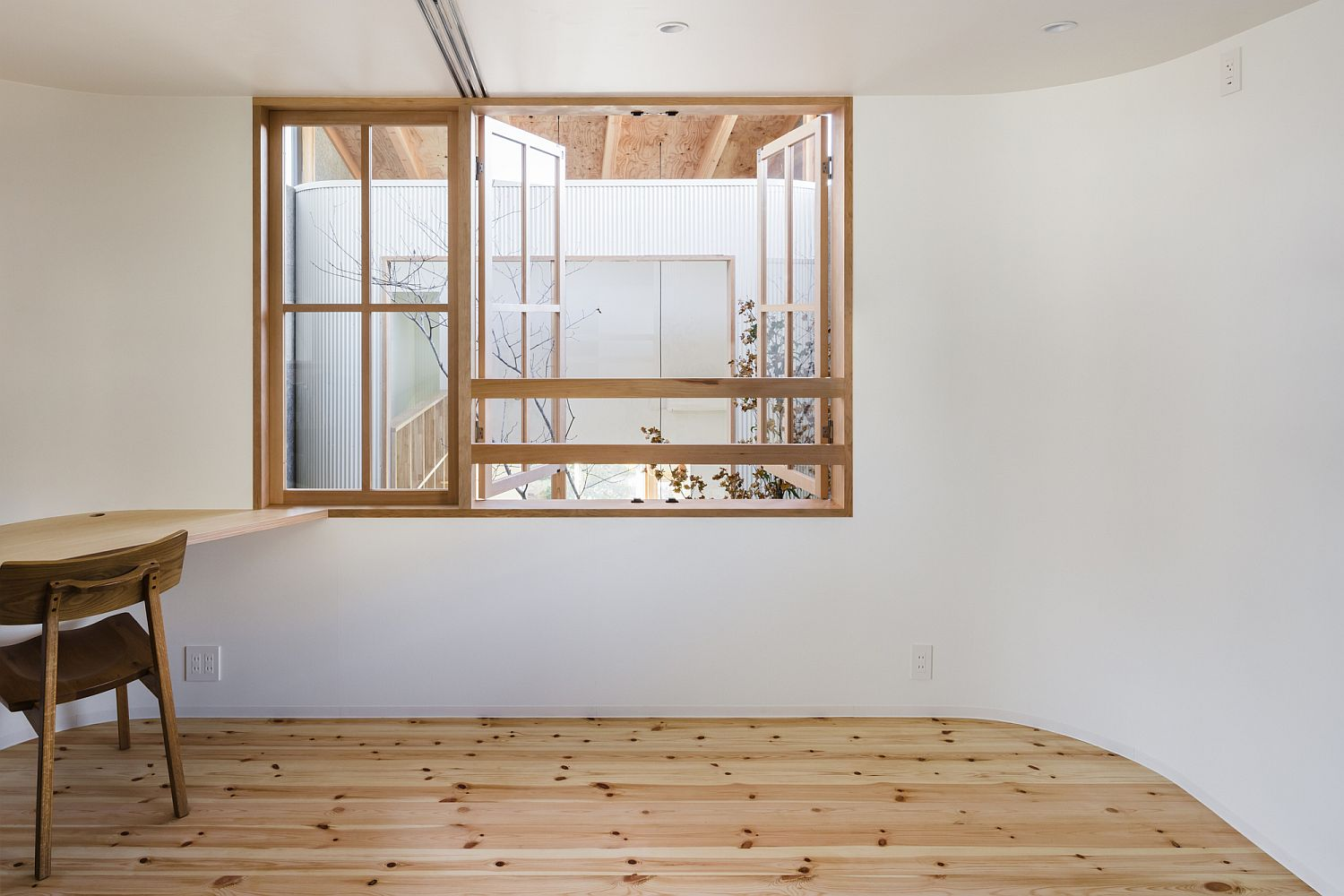 Minimal and modern interior of the Japanese home