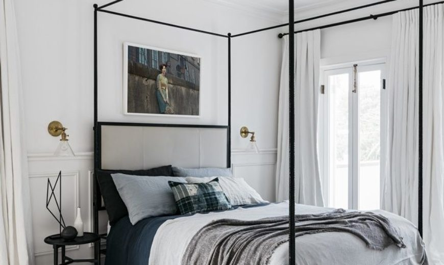 Monder-monochromatic-bedroom-decor-with-canopy-bed-870x520