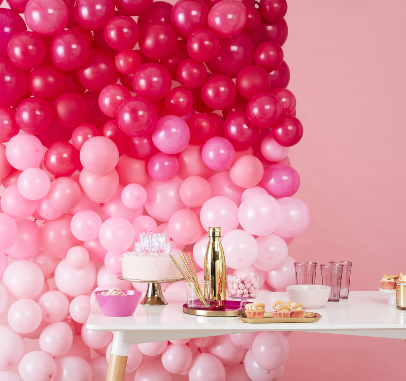 Ombre balloon wall kit from Ginger Ray