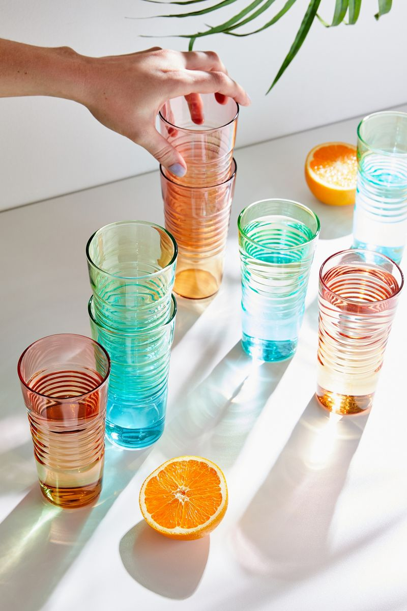 Ombre drinking glasses